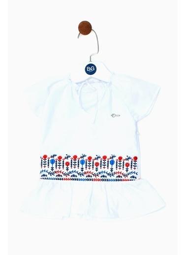 BG Baby Kız Bebek Beyaz Elbise 19Ss0Bg2910 Beyaz